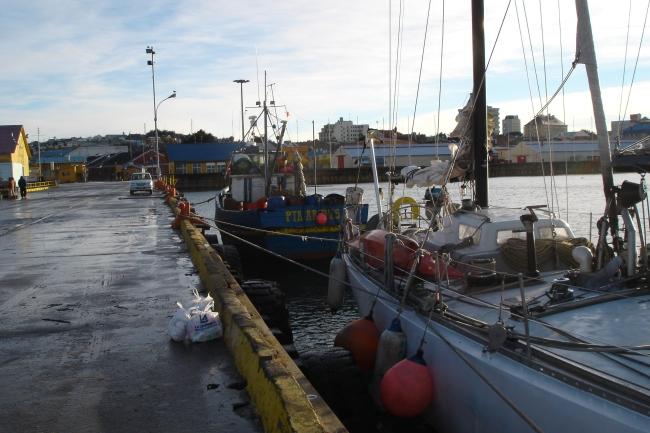 12. En el muelle de Punta Arenas