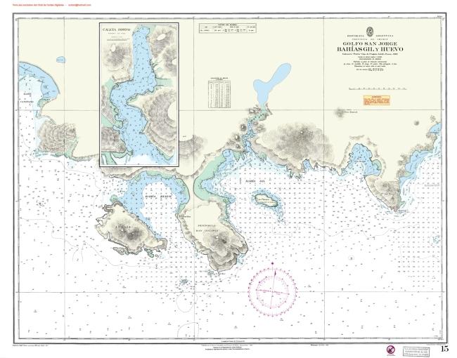 Caleta Horno en Bahía Gil, Golfo de San Jorge, Chubut, Argentina