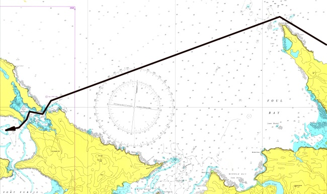Carta3 - De Cape Dolphin (Cabo Leal) al Pasaje de Tamar.