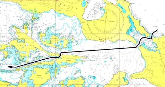 Carta4 - Tamar Pass, Wooly Gut y Rock Harbour (Bahía de las Piedras)