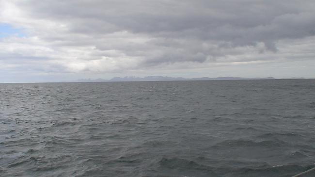 Isla de los Estados vista desde el Cabo San Diego