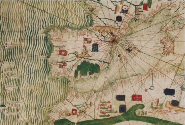 1450 Anónimo - Portolana centrada en Barcelona