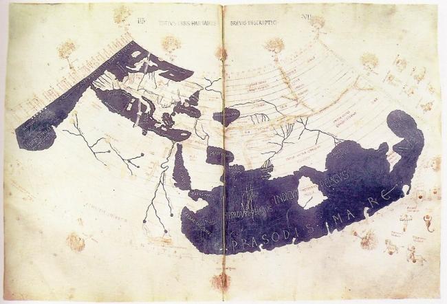 1470 Anónimo - Primera reconstrucción impresa del Mappa Mundi de Ptolomeo