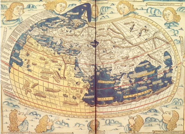 1482 Von Armsshein, Johannes - Mappa Mundi Ptolemaico, edición de Ulm