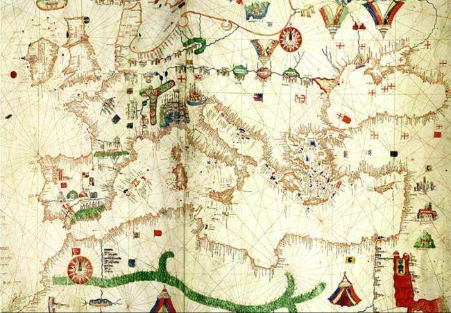 1489 De Canepa, Albino  - Carta Portolana de Europa y Norte de Africa