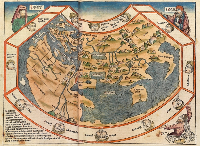 1493 Hartmann Schedel - Mappa Mundi, from Nüremberg chronicles
