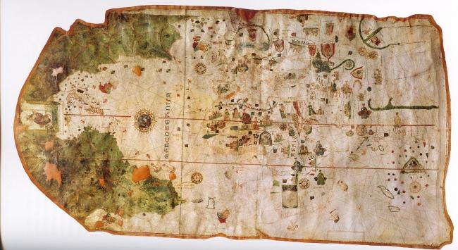 1500 Juan de la Cosa - Carta Portolana del Mundo, por 1ra vez con nuevo mundo