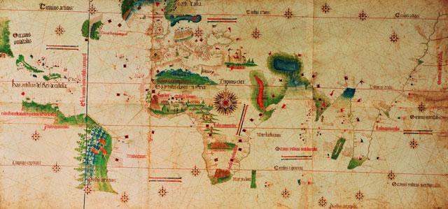 1502 Cantino, Alberto -  Mappa Mundi
