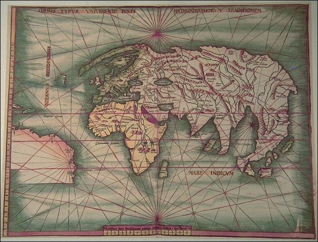 1513 Waldseemüller, Martin, Schott Johannes  - Orbis Typus Universalis Iuxta Hyrographorum Traitionem