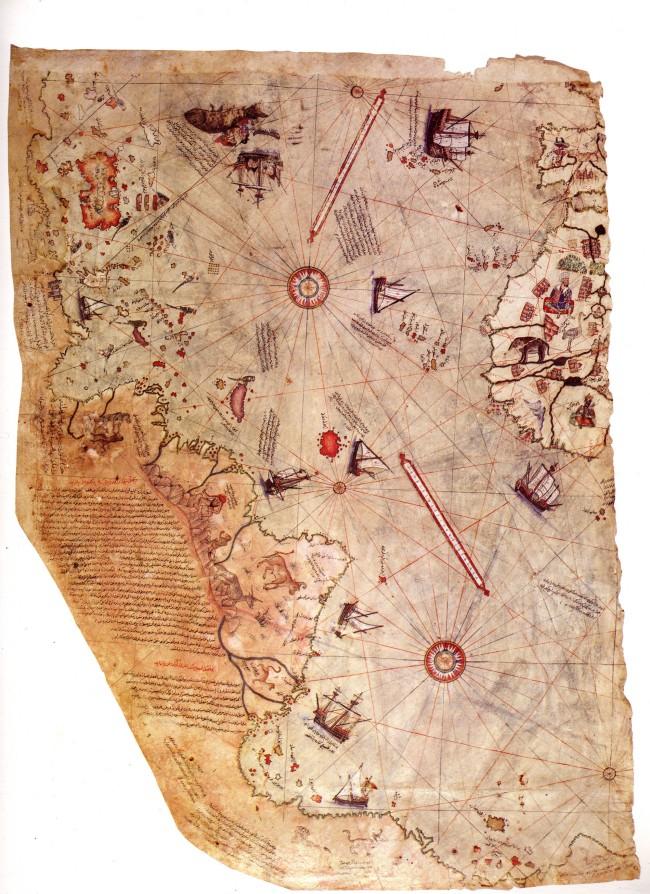 1517 Reis, Piri -  Fragmento del Mappa Mundi original
