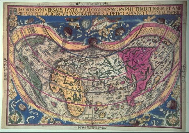 1520 Peter Apianus y Gemma frisius - Orbis Universalis