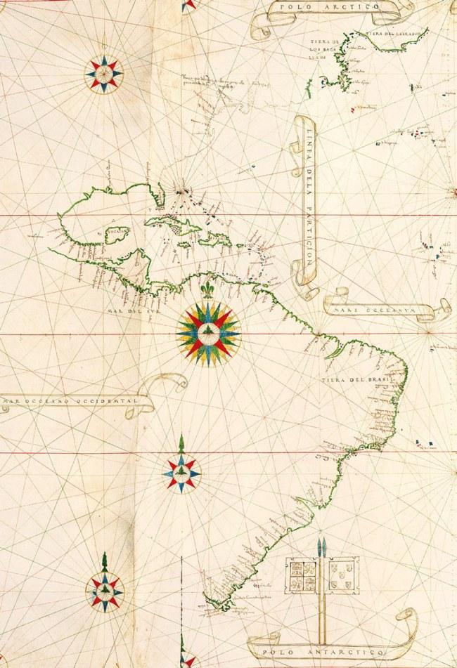 1529 Rivero, Diego (Cosmógrafo real de la Casa de Contratación de Sevilla) - Portolana del Nuevo Mundo