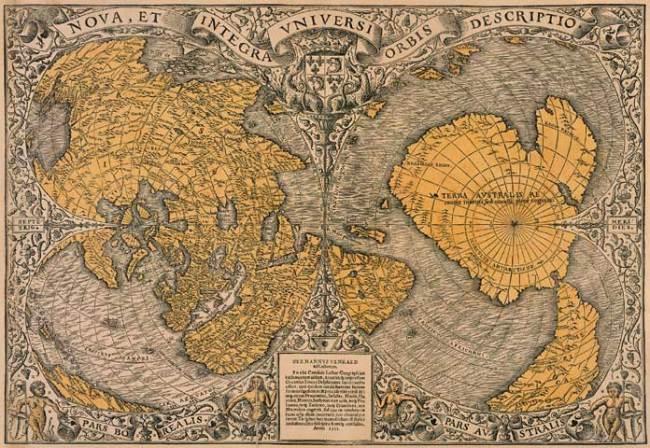 1531 Finaeus,  Oriontus - Nova et integra universi orbis descriptio