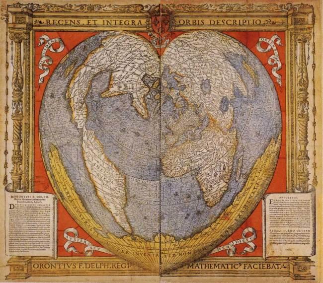 1534 Finaeus,  Oriontus - Recens et integra orbis descriptio