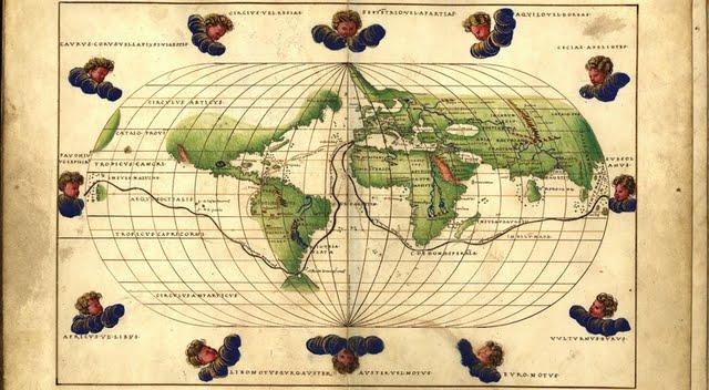 1544 Agnese, Battista - Mappa Mundi con derrota de la expedición de Magallanes