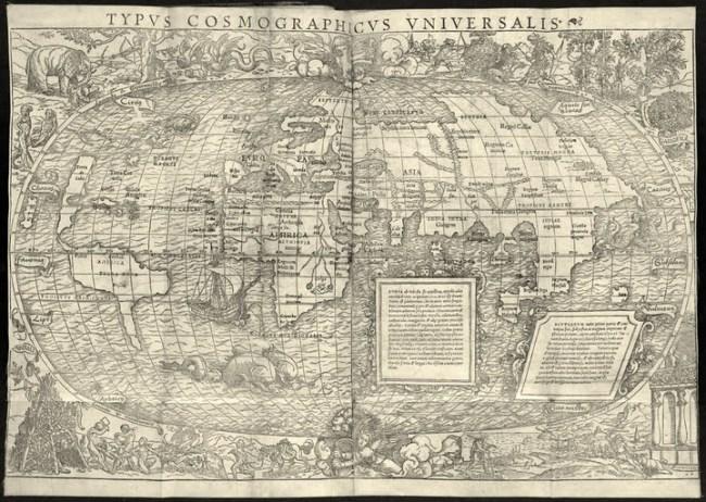 1555 Münster, Sebastian - Typus Cosmographicus Universalis