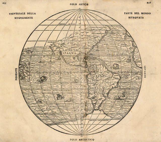 1556 Gastaldi, Giacomo - Universale della Parte del Mondo Nuovamente Ritrovata