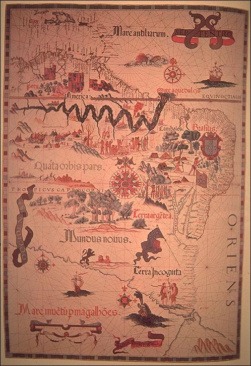 1558 Homen, Diogo - Mundus Novus, America