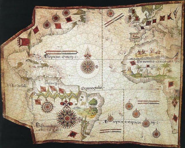 1558 Lopes, Bastian - Carta Portulano del Atlántico