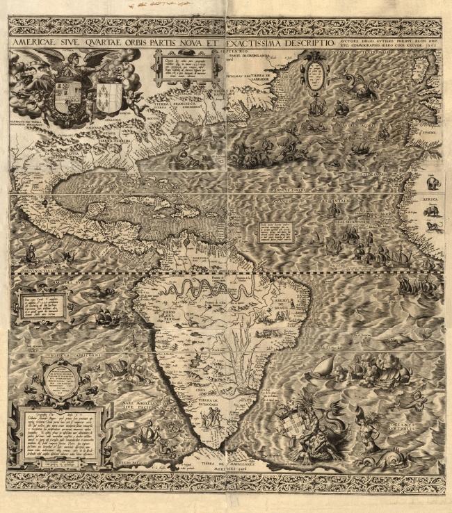 1562 Gutierrez, Diego - Americae Sive Qvartae Orbis Partis Nova et Exactissima Descriptio