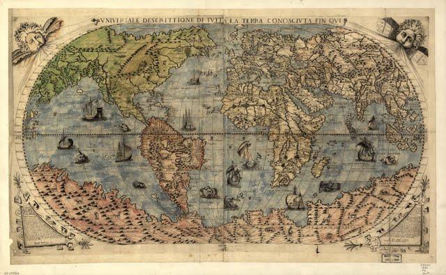 1565 Gastaldi, Giacomo - Universali Descrittioni di Tutta la Terra