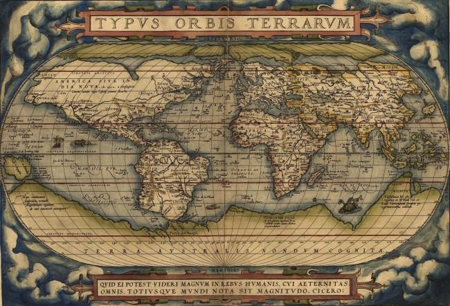 1570 Ortelius, Abraham - Theatrum Orbis Terrarum (1er Atlas Moderno)