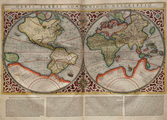 1587 Rumold Mercator - Planisferio