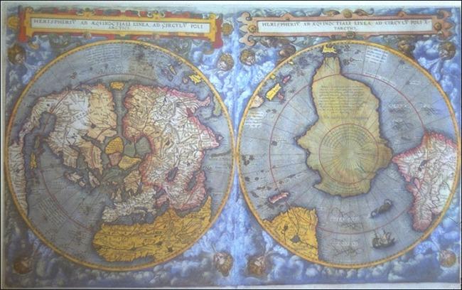 1593 Jode, Cornelius de - Hemispheriu Ab Aequinoctiali Linea, Ad Circulu Poli Arctici et Poli Atarctici
