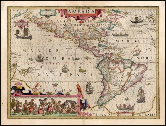 1606 Hondius, Jodocus - America