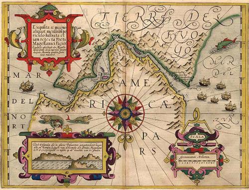 1606 Mercator Hondius - Fretum Magellanicum
