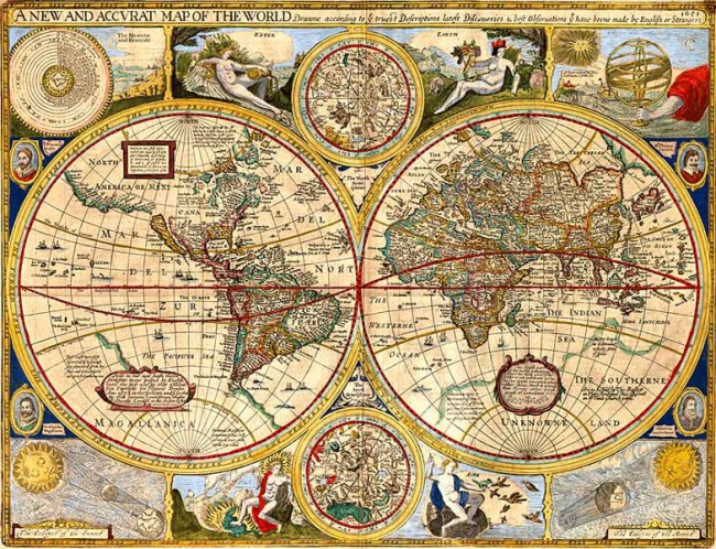 1627 Speed, John - A new and Accurate Map of the World