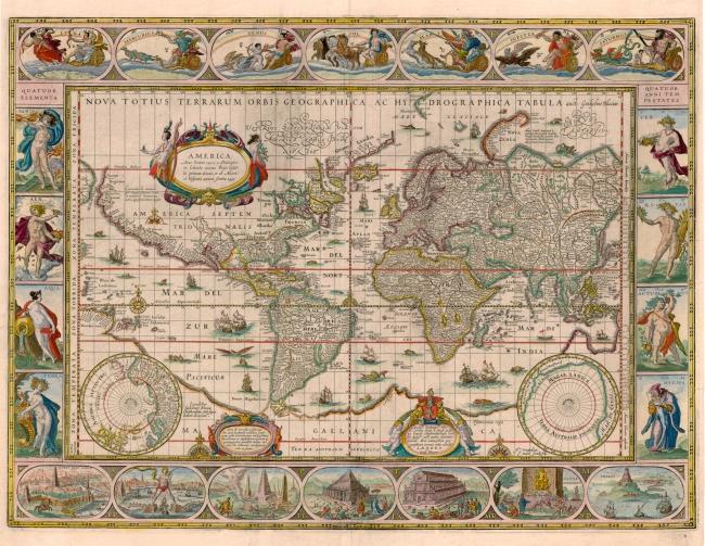 1630 Blaeu, Willem Janszoon - Nova Totius Terrarum Orbis Geographica Ac Hydrographica Tabula