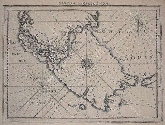 1632 Mercator, Gerard - Fretum Magellanicum