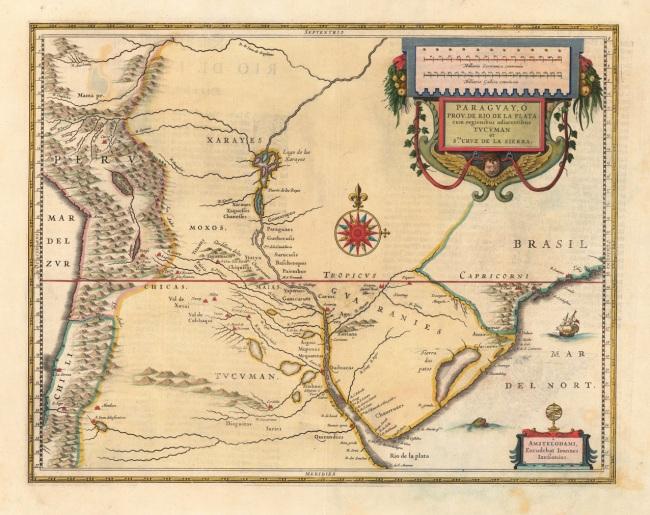 1638 Jansonnius, Joan - Paraguay, O Prov. de Rio de la Plata cum regionibus adiacentibus Tucman et S.ta Cruz de la Sierra