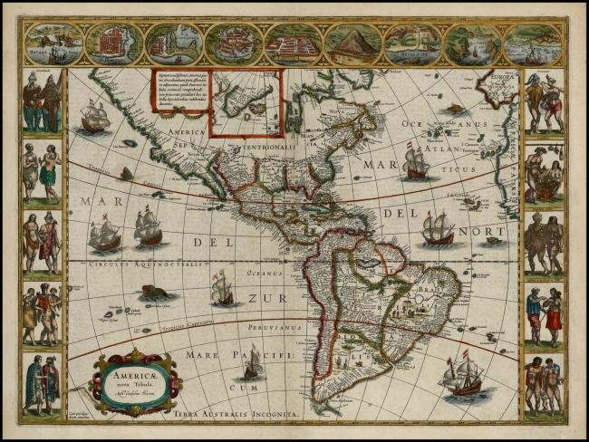 1640 Blaeu, Willem Janszoon - Americae Nova Tabula