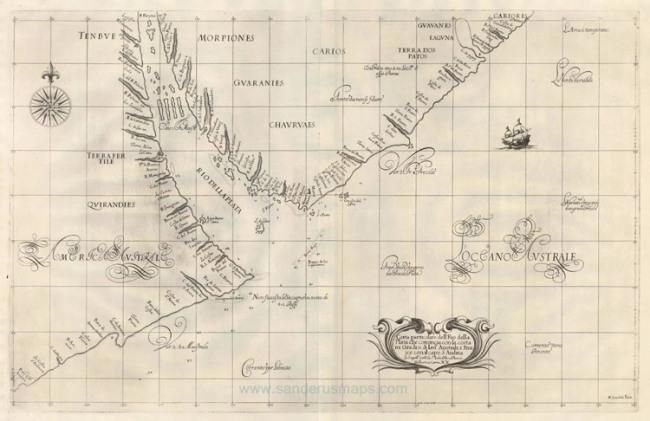 1646 Dudley, Sir Robert - Carta particolare dell'Rio della Plata