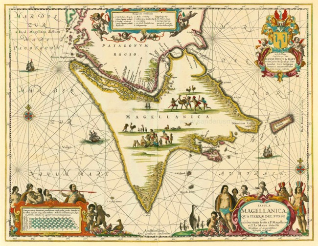 1658 Janssonius, Joan - Tabula Magellanica qua Tierrae del Fuego