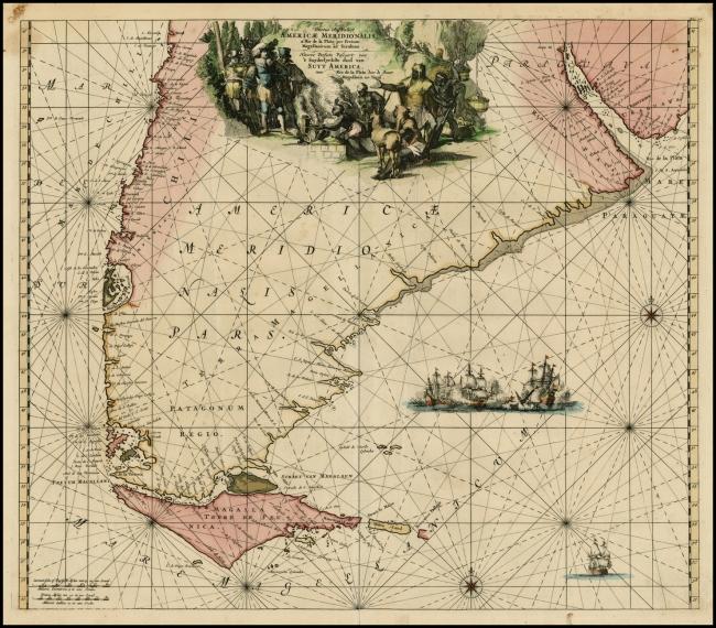1675 De Wit, Frederick - Tractus Australior Americae Meridionalis a Rio de la Plata per Fretum Magellanicum ad Toraltum