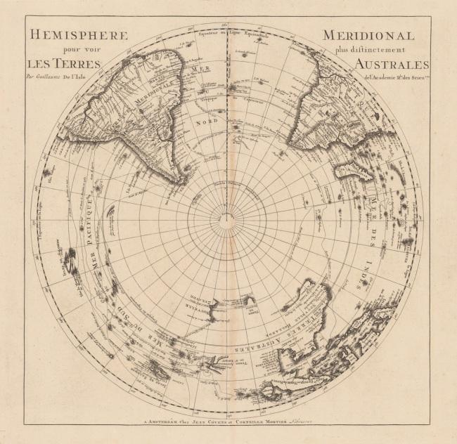 1700 Mortier, Cornelius & Covens, Jean - Hemisphere Meridional pour voir plus distinctement Les Terres Australes