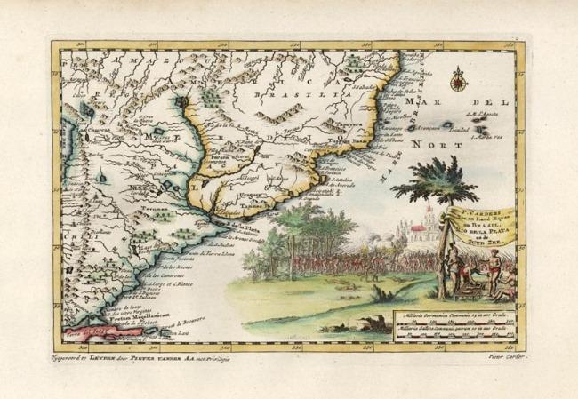 1700 Van der Aa, Pieter & Carders P. - Zee en Land Reyse na Brasil. Rio De La Plata en de Zuyd Zee