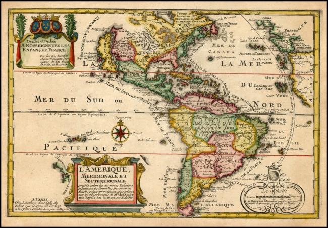 1717 De Fer, Nicholas - L'Amerique Meridionale Et Septentrionale