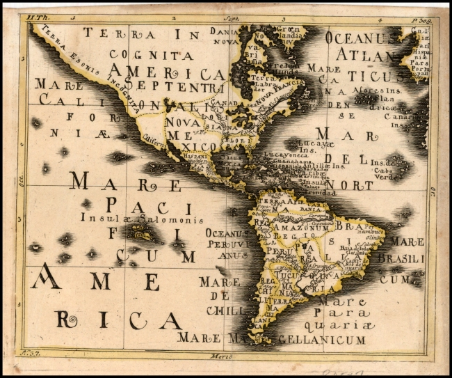 1737 Wagner, Franz - Untited Map of America