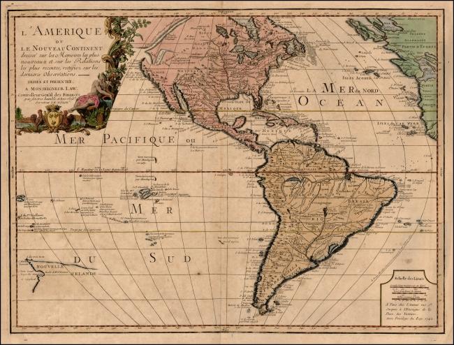 1742 Nolin, Jean Baptiste - L'Amerique ou Le Nouveau Continent