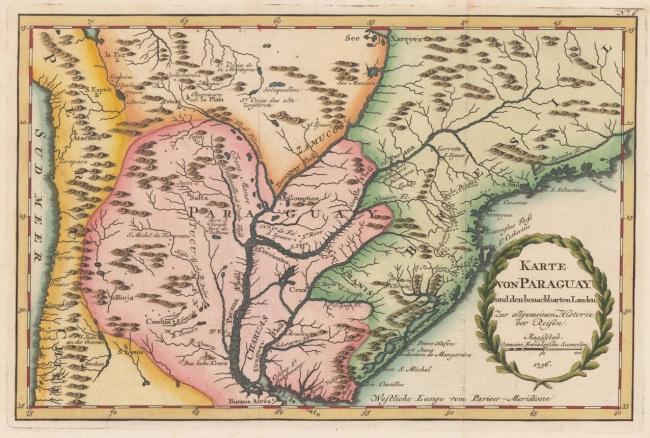 1756 Bellin, Nicolaus - Karte von Paraguay und den benachbarten Landen