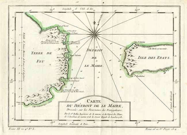 1759 Bellin, Jacques Nicholas - Carte du Detroit De Le Maire
