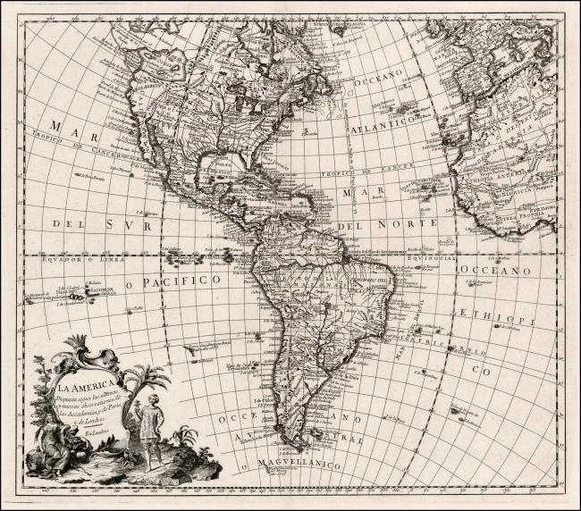 1760 Anonymous - La America Dispuesta segun las ultimas y nuevas observationes de las Accademias, y de Paris, y de Londres