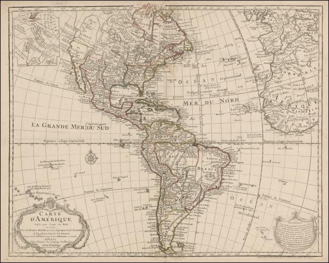 1763 De L'Isle, Guillaume & Buache, Philippe - Carte D'Amerique Dresssee pour l'usage du Roy