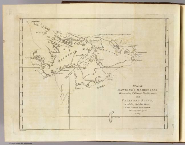 1773 Hawkesworth, John - Falklands (Hawkins Maidenland)