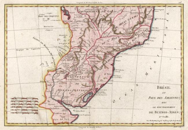 1787 Bonne, Rigobert - Bresil et Pays Des Amazones, avec Le Gouvernement De Buenos-Ayres