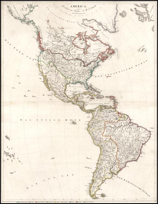 1820 Schopp, Simon & Co. - America Gezeichnet vom Proffessor J.M.F. Schmidt